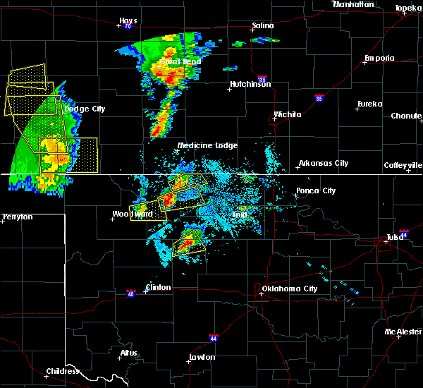Radar Image for Severe Thunderstorms near Dacoma, OK at 5/18/2019 6:23 PM CDT
