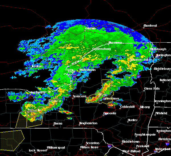 Radar Image for Severe Thunderstorms near Waterville, NY at 6/12/2015 6:14 PM EDT