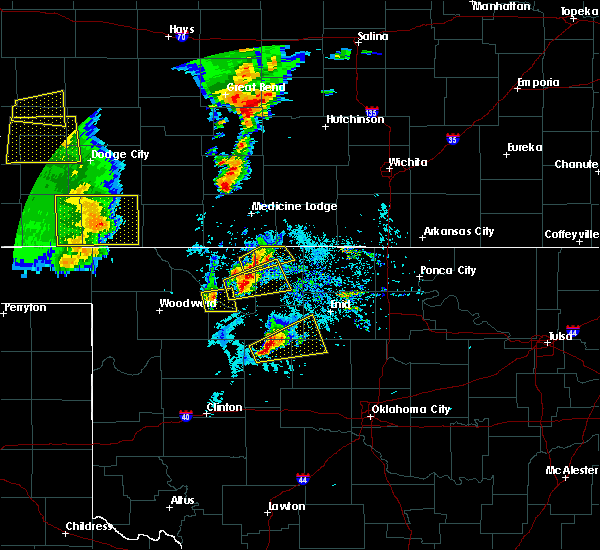 Radar Image for Severe Thunderstorms near Dacoma, OK at 5/18/2019 6:34 PM CDT