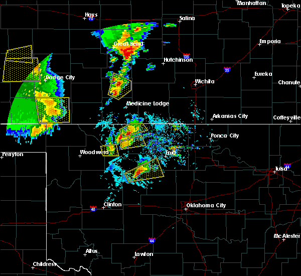 Radar Image for Severe Thunderstorms near Dacoma, OK at 5/18/2019 6:44 PM CDT
