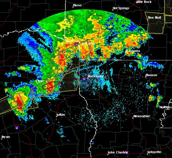 Radar Image for Severe Thunderstorms near Kilgore, TX at 5/18/2019 6:46 PM CDT