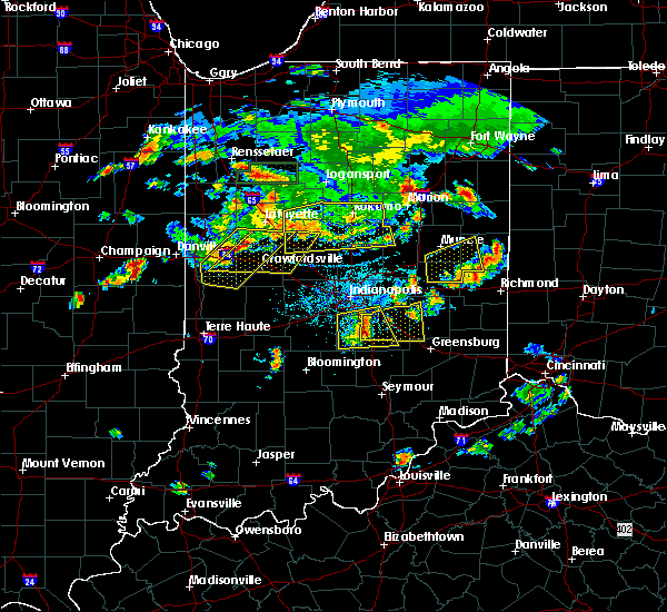 Radar Image for Severe Thunderstorms near Crawfordsville, IN at 6/12/2015 6:17 PM EDT