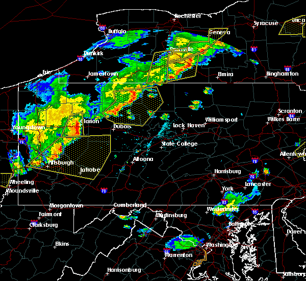 Radar Image for Severe Thunderstorms near Brockway, PA at 6/12/2015 6:18 PM EDT