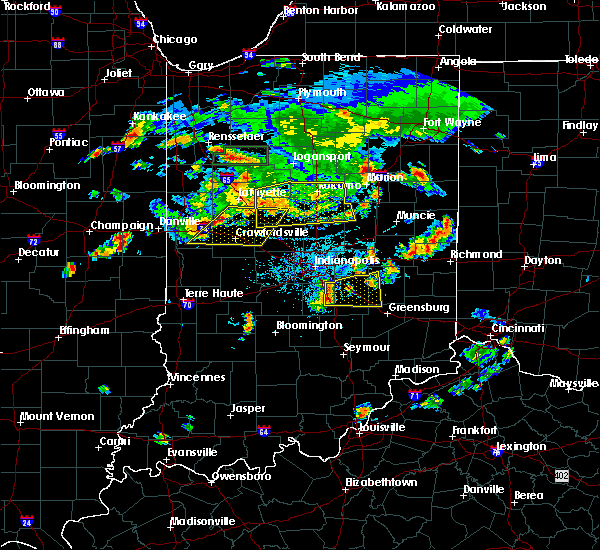 Radar Image for Severe Thunderstorms near Frankton, IN at 6/12/2015 6:24 PM EDT