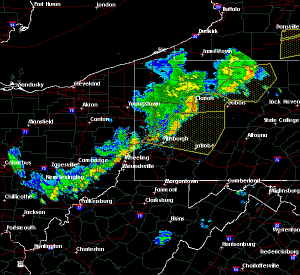 Radar Image for Severe Thunderstorms near Kittanning, PA at 6/12/2015 6:24 PM EDT