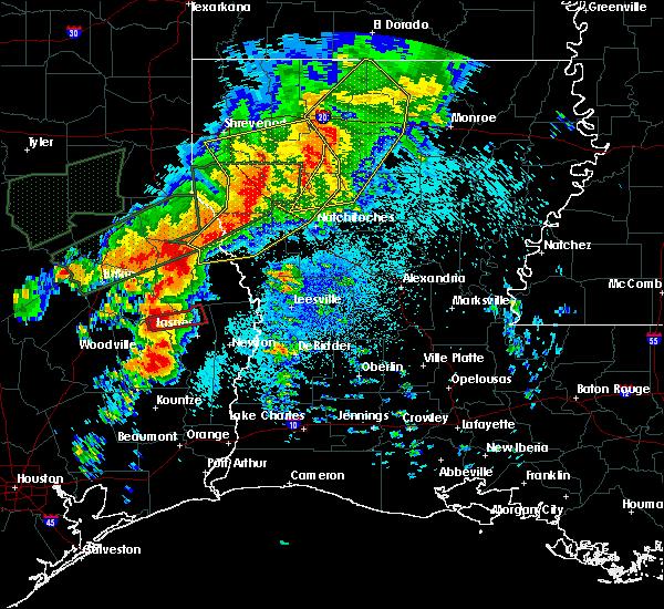 Radar Image for Severe Thunderstorms near Sam Rayburn, TX at 5/19/2019 12:41 AM CDT