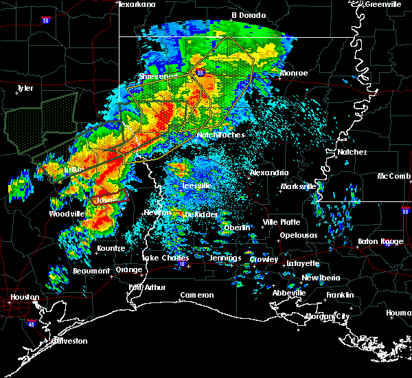 Radar Image for Severe Thunderstorms near Huntington, TX at 5/19/2019 12:46 AM CDT