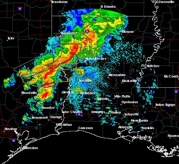 Radar Image for Severe Thunderstorms near Sam Rayburn, TX at 5/19/2019 12:52 AM CDT