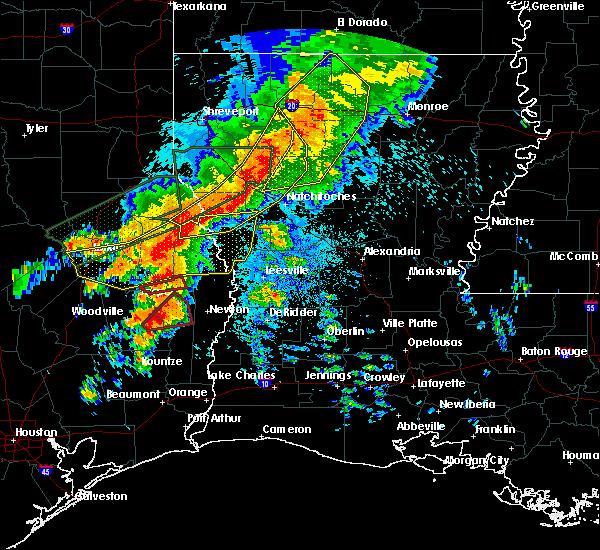 Radar Image for Severe Thunderstorms near Sam Rayburn, TX at 5/19/2019 1:03 AM CDT