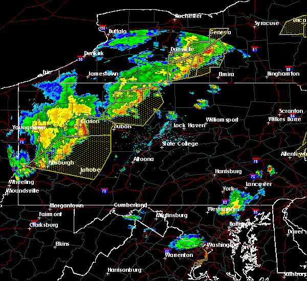 Radar Image for Severe Thunderstorms near New Bethlehem, PA at 6/12/2015 6:29 PM EDT