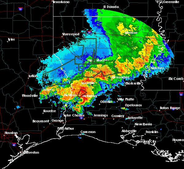 Radar Image for Severe Thunderstorms near Oberlin, LA at 5/19/2019 3:48 AM CDT