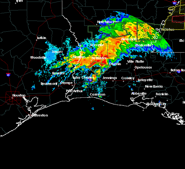 Radar Image for Severe Thunderstorms near Oberlin, LA at 5/19/2019 4:38 AM CDT