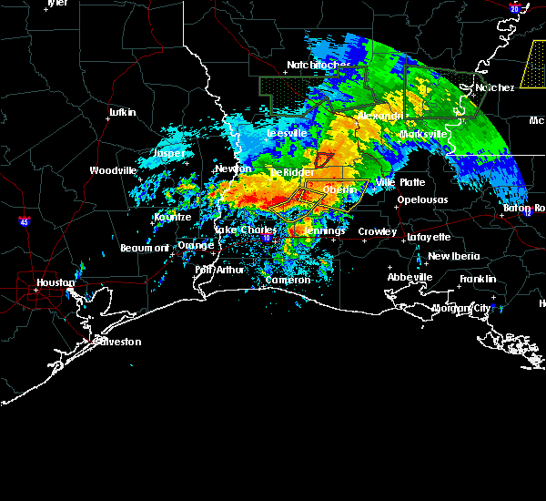 Radar Image for Severe Thunderstorms near Oberlin, LA at 5/19/2019 5:10 AM CDT