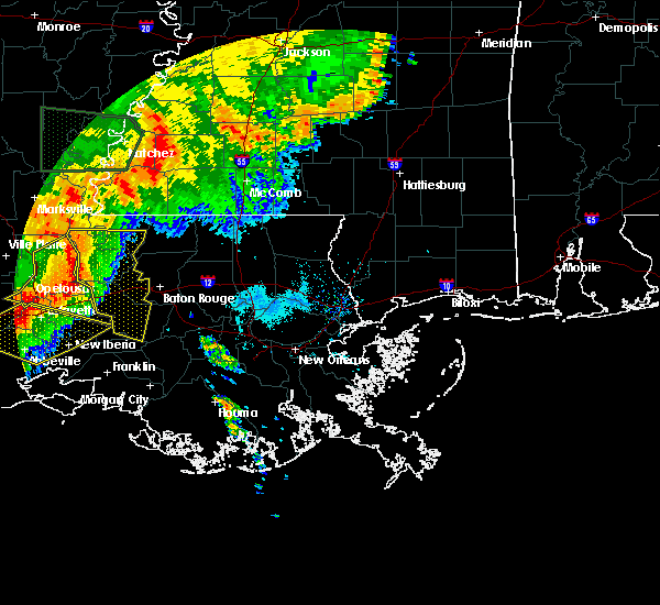 Radar Image for Severe Thunderstorms near Brusly, LA at 5/19/2019 6:48 AM CDT