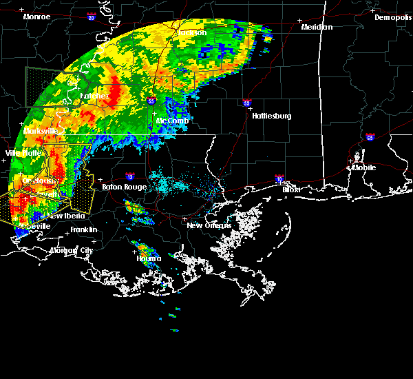 Radar Image for Severe Thunderstorms near Brusly, LA at 5/19/2019 7:04 AM CDT