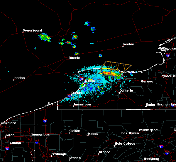 Radar Image for Severe Thunderstorms near Clarkson, NY at 5/19/2019 11:55 AM EDT