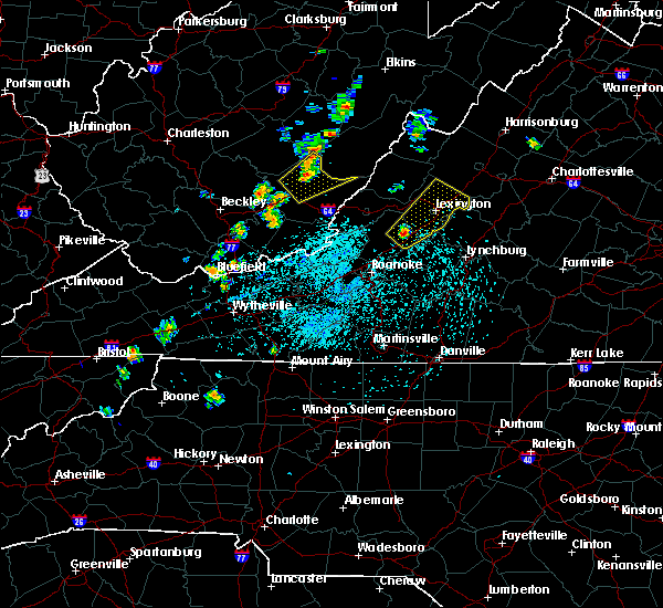 Radar Image for Severe Thunderstorms near East Lexington, VA at 5/19/2019 1:41 PM EDT