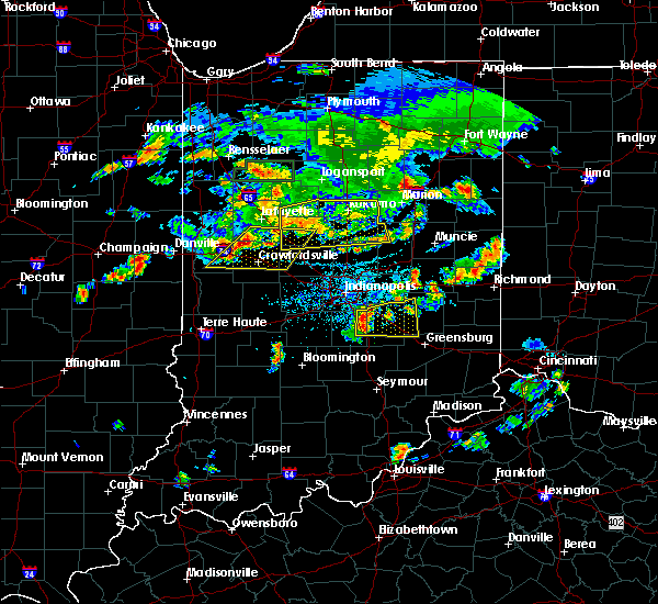 Radar Image for Severe Thunderstorms near Crawfordsville, IN at 6/12/2015 6:32 PM EDT