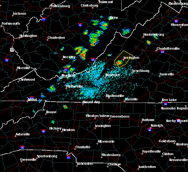 Radar Image for Severe Thunderstorms near East Lexington, VA at 5/19/2019 2:06 PM EDT