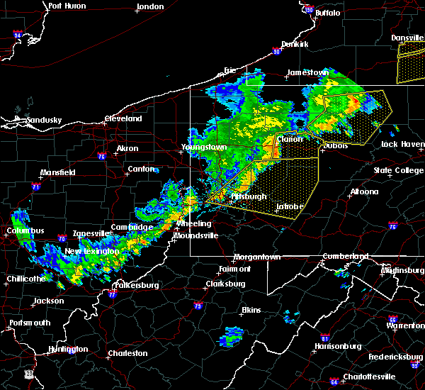 Radar Image for Severe Thunderstorms near Saxonburg, PA at 6/12/2015 6:32 PM EDT