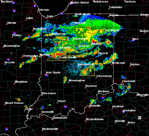 Radar Image for Severe Thunderstorms near Carthage, IN at 6/12/2015 6:35 PM EDT