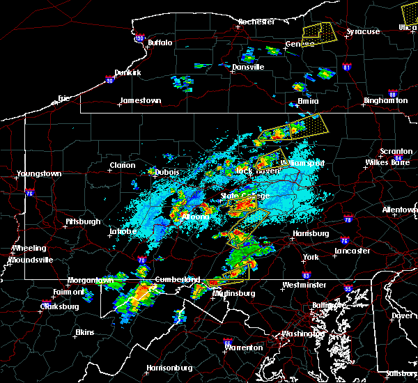 Radar Image for Severe Thunderstorms near Salladasburg, PA at 5/19/2019 4:03 PM EDT