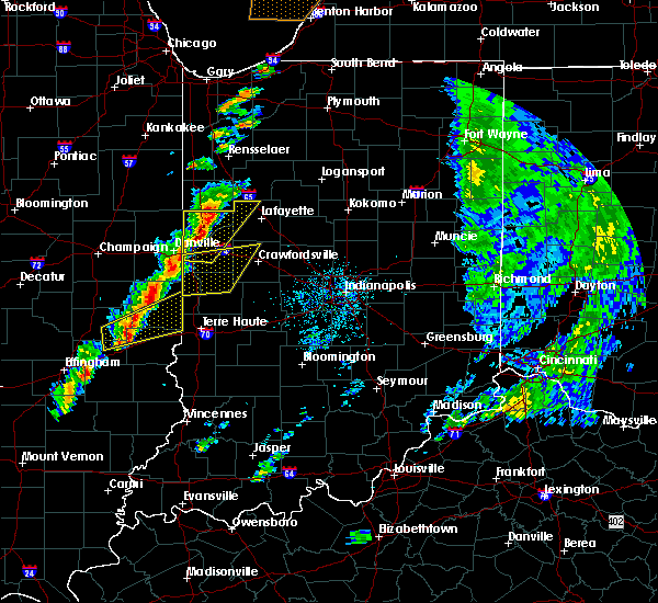 Radar Image for Severe Thunderstorms near Marshall, IN at 5/19/2019 4:10 PM EDT