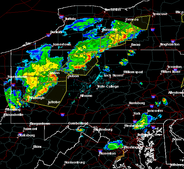 Radar Image for Severe Thunderstorms near Moshannon, PA at 6/12/2015 6:35 PM EDT