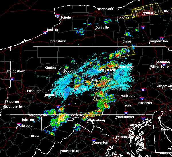 Radar Image for Severe Thunderstorms near Kreamer, PA at 5/19/2019 4:16 PM EDT