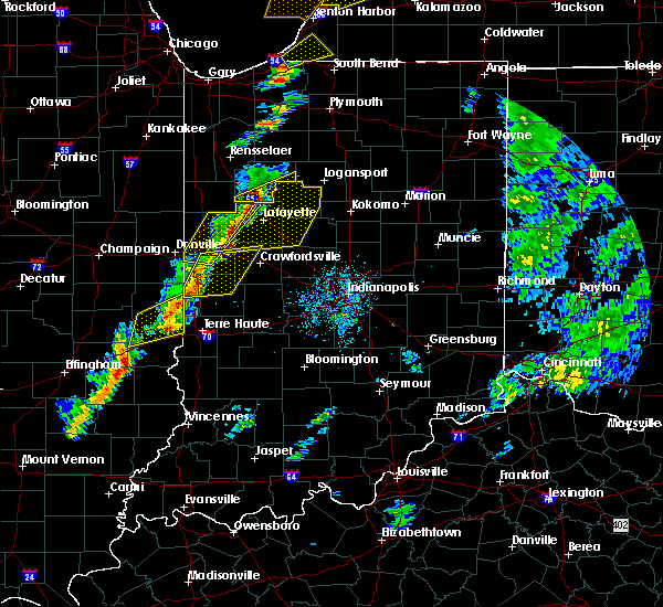 Radar Image for Severe Thunderstorms near Marshall, IN at 5/19/2019 4:36 PM EDT