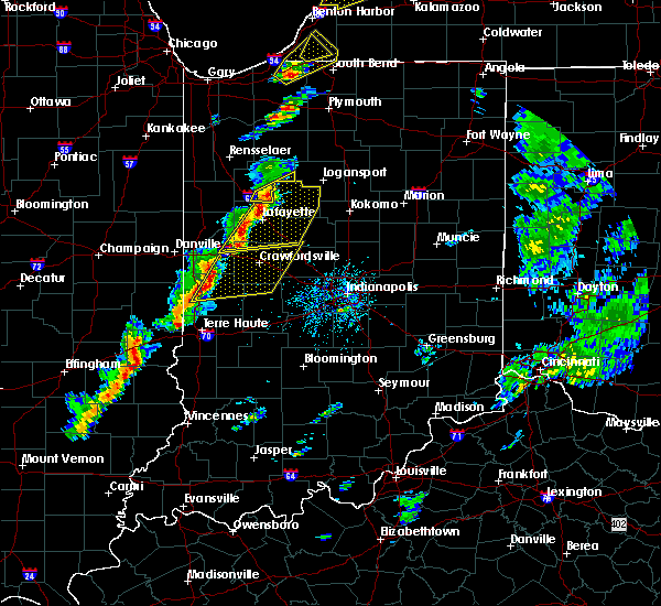 Radar Image for Severe Thunderstorms near Marshall, IN at 5/19/2019 4:48 PM EDT