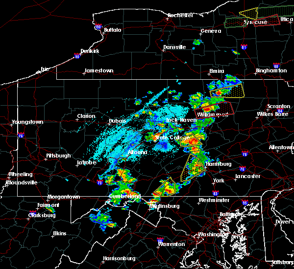 Radar Image for Severe Thunderstorms near Kreamer, PA at 5/19/2019 4:55 PM EDT