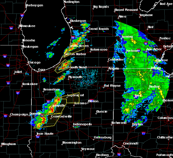 Radar Image for Severe Thunderstorms near Onward, IN at 5/19/2019 4:56 PM EDT
