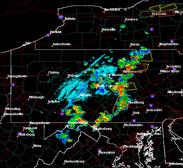 Radar Image for Severe Thunderstorms near Kreamer, PA at 5/19/2019 4:59 PM EDT