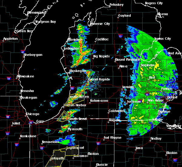 Radar Image for Severe Thunderstorms near Coloma, MI at 5/19/2019 5:08 PM EDT