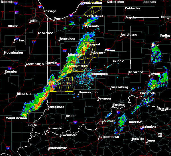 Radar Image for Severe Thunderstorms near Tecumseh, IN at 5/19/2019 5:30 PM EDT