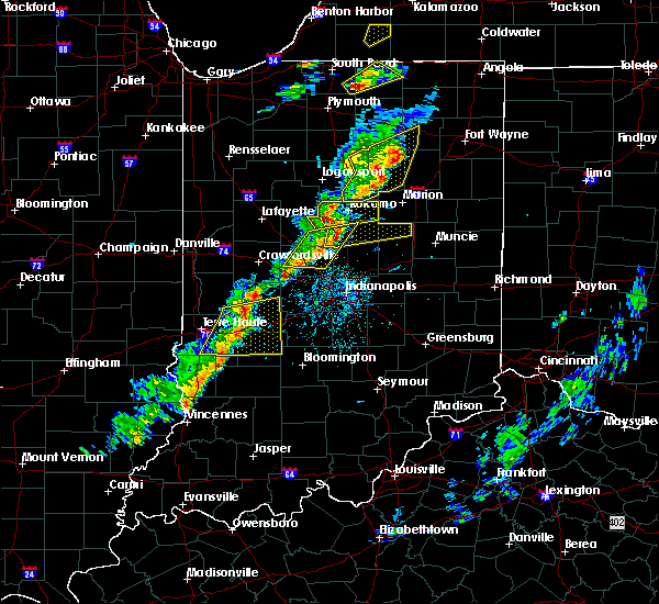 Radar Image for Severe Thunderstorms near Whitestown, IN at 5/19/2019 5:56 PM EDT