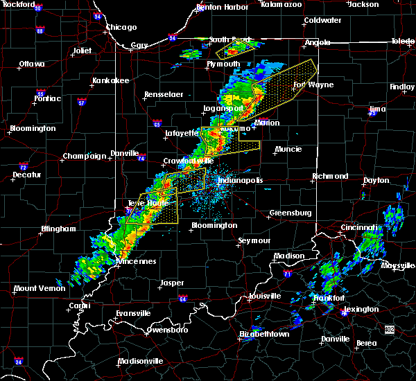 Radar Image for Severe Thunderstorms near Whitestown, IN at 5/19/2019 6:02 PM EDT