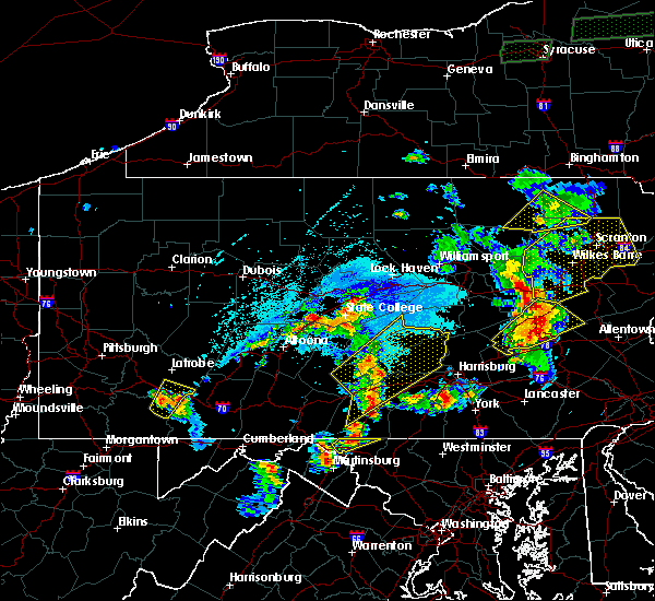 Radar Image for Severe Thunderstorms near New Cumberland, PA at 5/19/2019 6:13 PM EDT