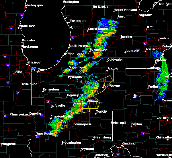 Radar Image for Severe Thunderstorms near Goshen, IN at 5/19/2019 6:17 PM EDT