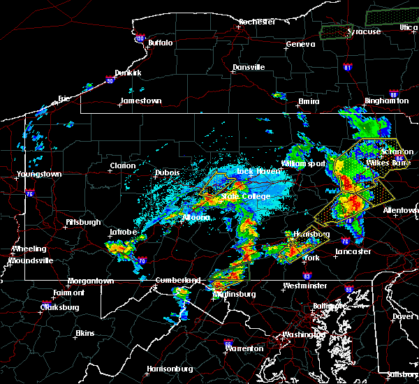 Radar Image for Severe Thunderstorms near Julian, PA at 5/19/2019 6:26 PM EDT