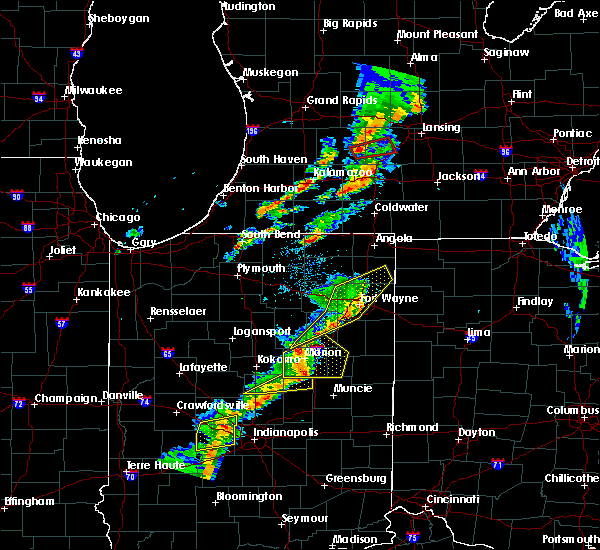 Radar Image for Severe Thunderstorms near Shipshewana, IN at 5/19/2019 6:35 PM EDT