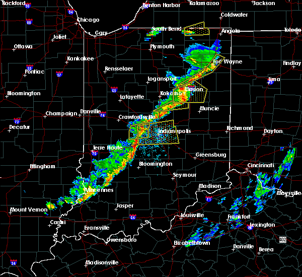 Radar Image for Severe Thunderstorms near Indianapolis, IN at 5/19/2019 6:39 PM EDT