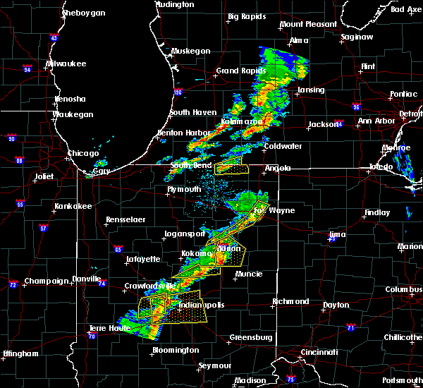 Radar Image for Severe Thunderstorms near Shipshewana, IN at 5/19/2019 6:40 PM EDT