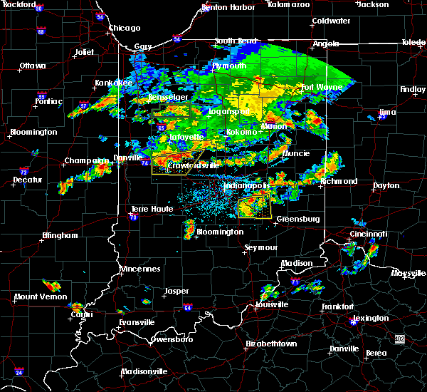 Radar Image for Severe Thunderstorms near Carthage, IN at 6/12/2015 6:43 PM EDT