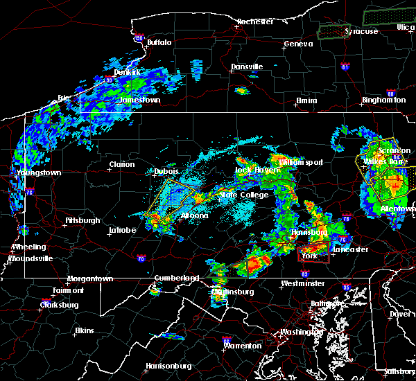 Radar Image for Severe Thunderstorms near Ramey, PA at 5/19/2019 7:14 PM EDT