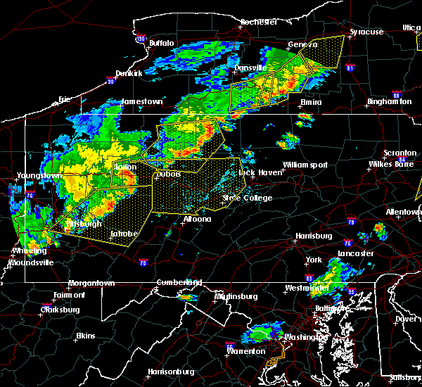 Radar Image for Severe Thunderstorms near Oswayo, PA at 6/12/2015 6:43 PM EDT