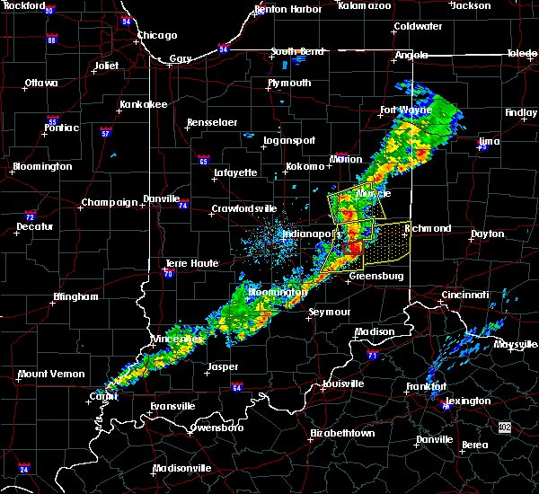 Radar Image for Severe Thunderstorms near Carthage, IN at 5/19/2019 7:54 PM EDT