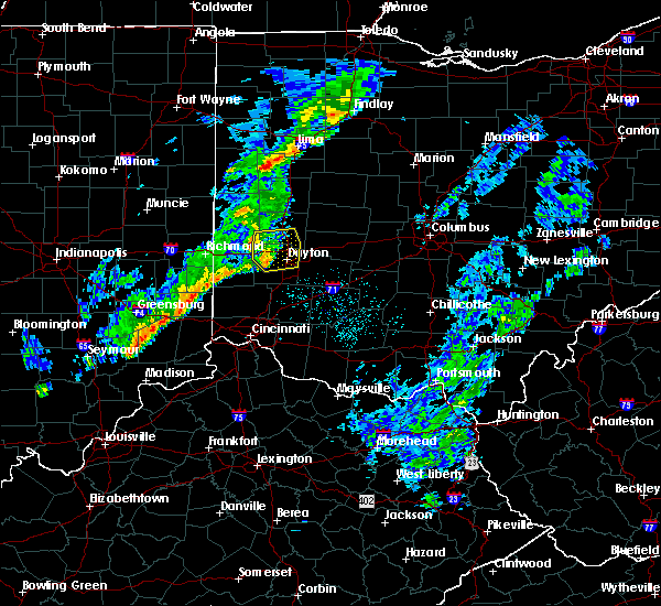 Radar Image for Severe Thunderstorms near Dayton, OH at 5/19/2019 9:06 PM EDT