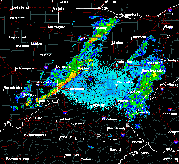 Radar Image for Severe Thunderstorms near Dayton, OH at 5/19/2019 9:53 PM EDT